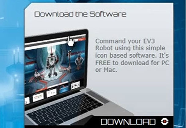 Download free LEGO EV3 software from LEGO website